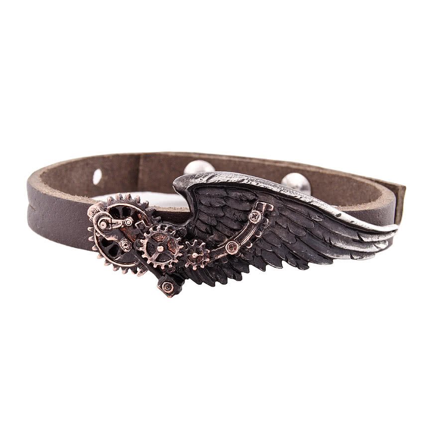 Alchemy Gothic Baron Tech Wingstrap Bracelet (Black)