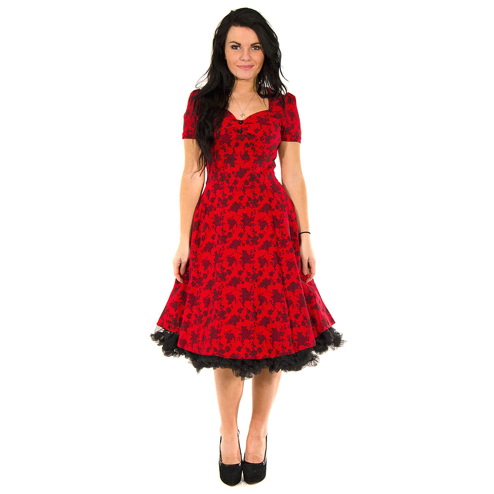 Voodoo Vixen Amy Dress (Red/Black)