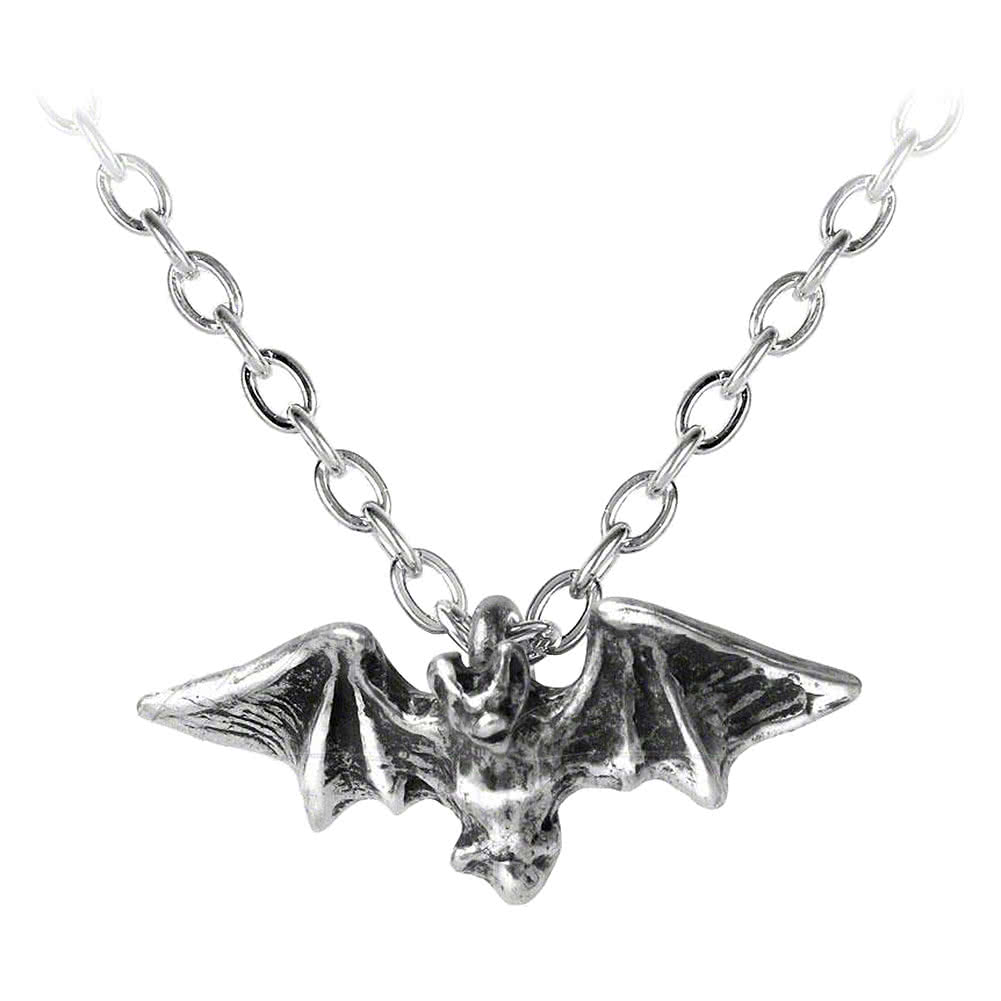 Alchemy Gothic Kiss Of The Night Pendant (Silver)