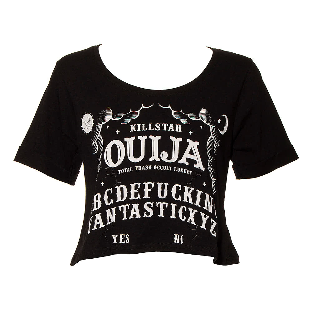 Kill Star Ouija Crop Top (Black)