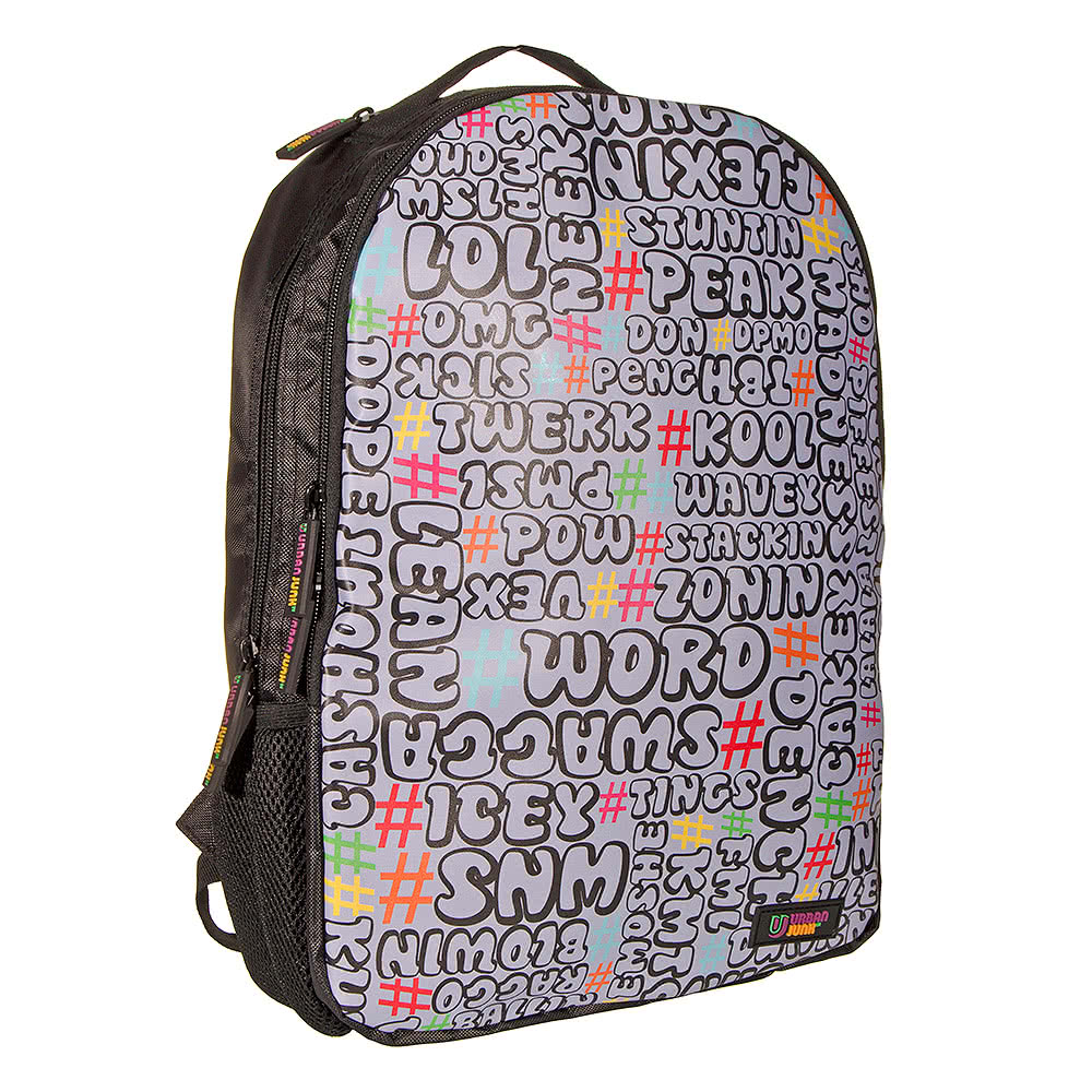 ... Urban Junk Word Up Day Funny Quirky Print Backpack Rucksack School Bag