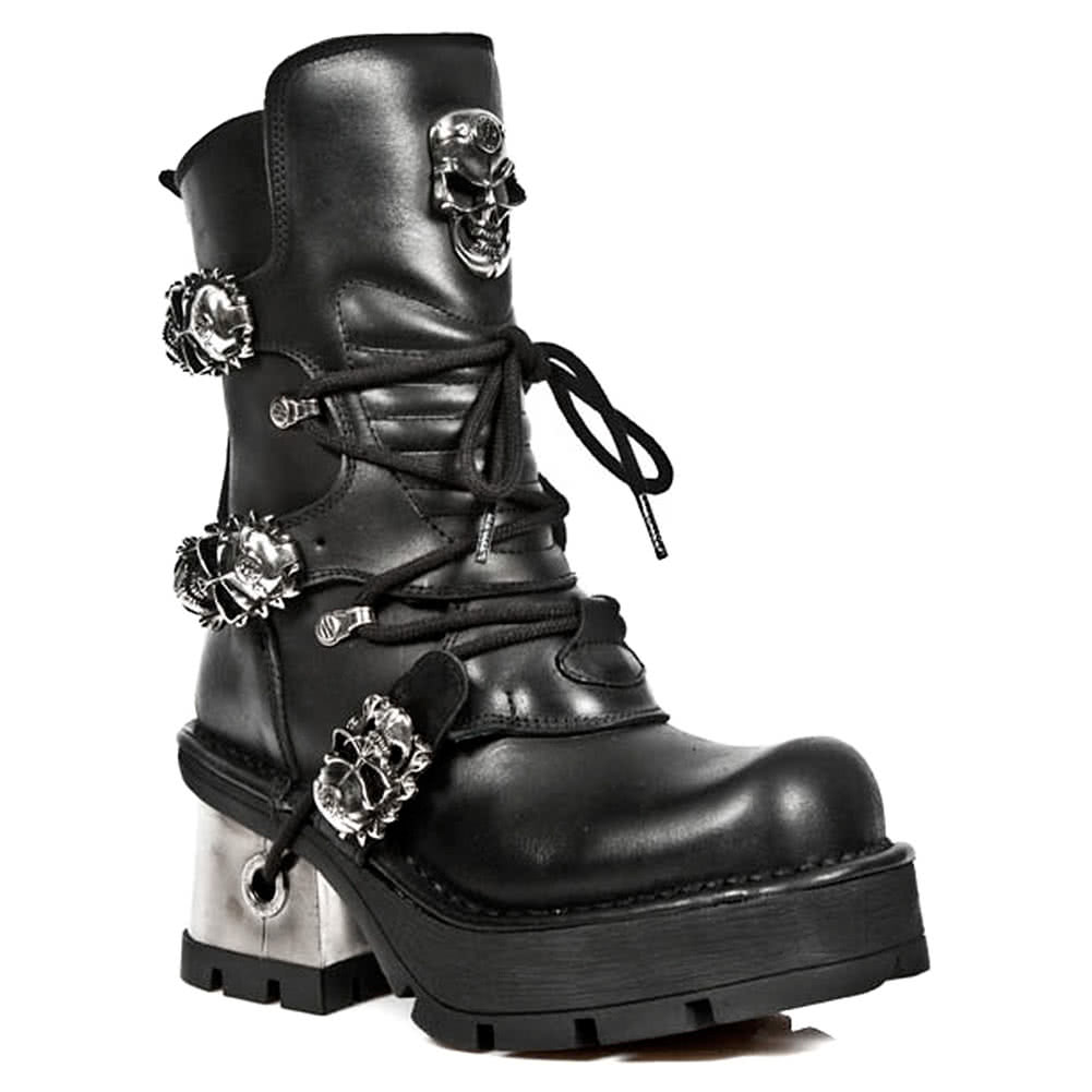 New Rock Boots Ankle High Style M1044-S1 (Black)