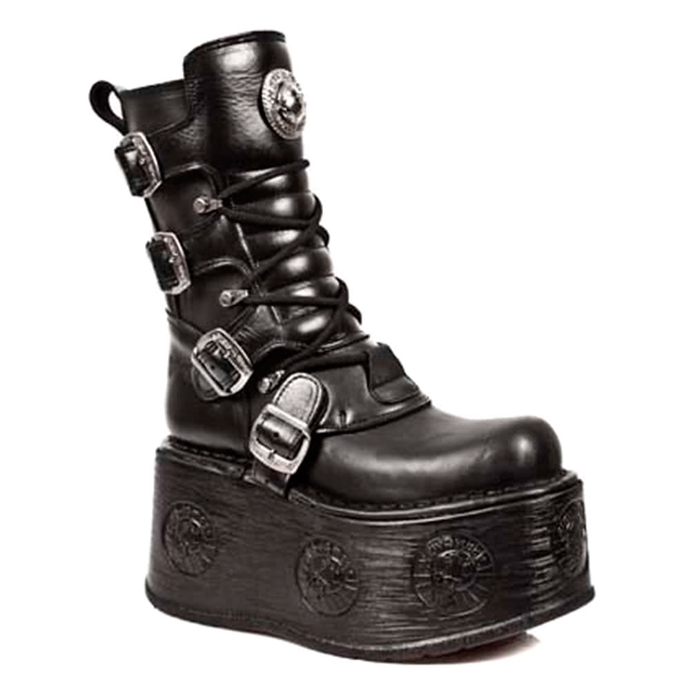 New Rock Boots Platform Space Sole Style M1473-S3 (Black)