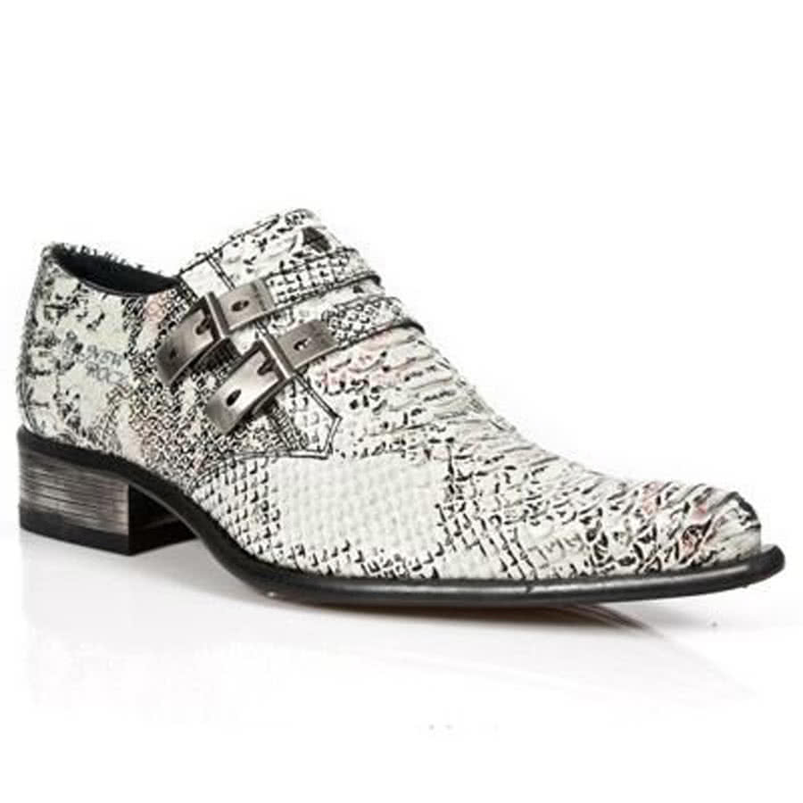 new rock style m 2246 s11 s white snakeskin shoes