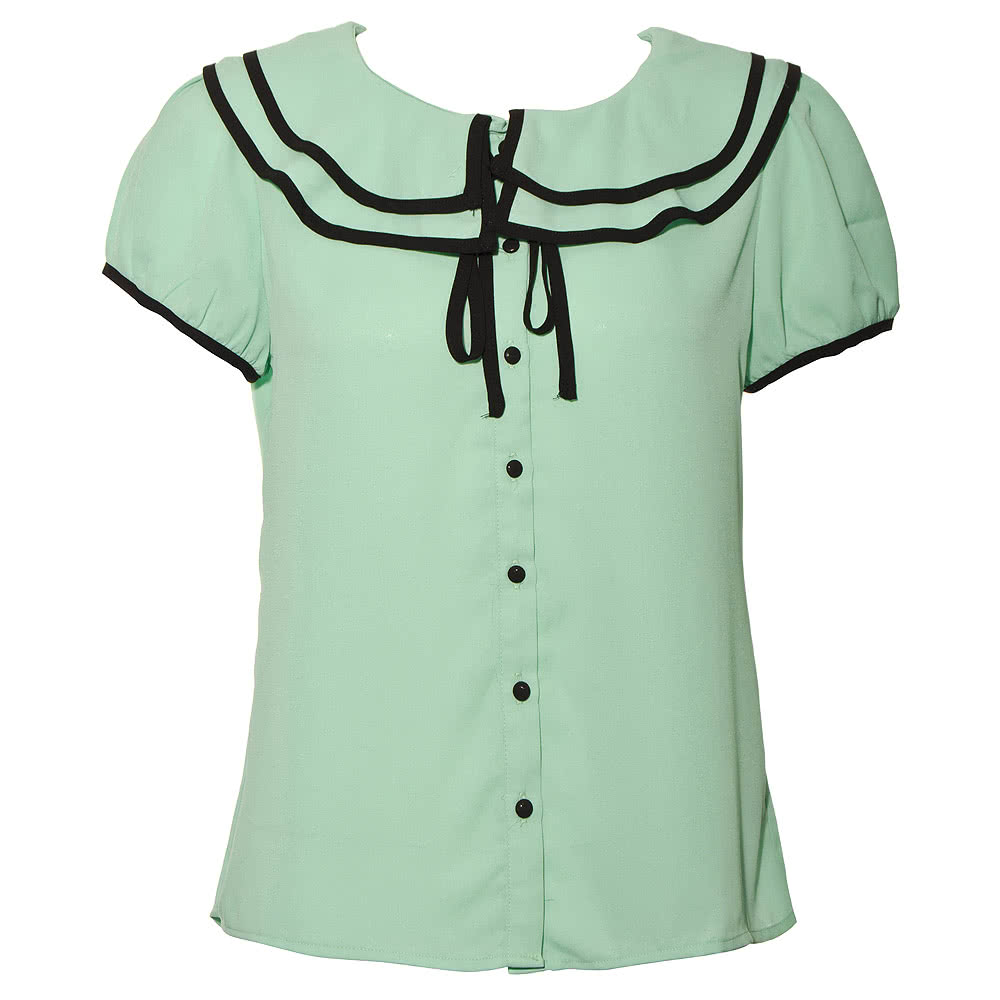Voodoo Vixen Bow Top (Green/Black)