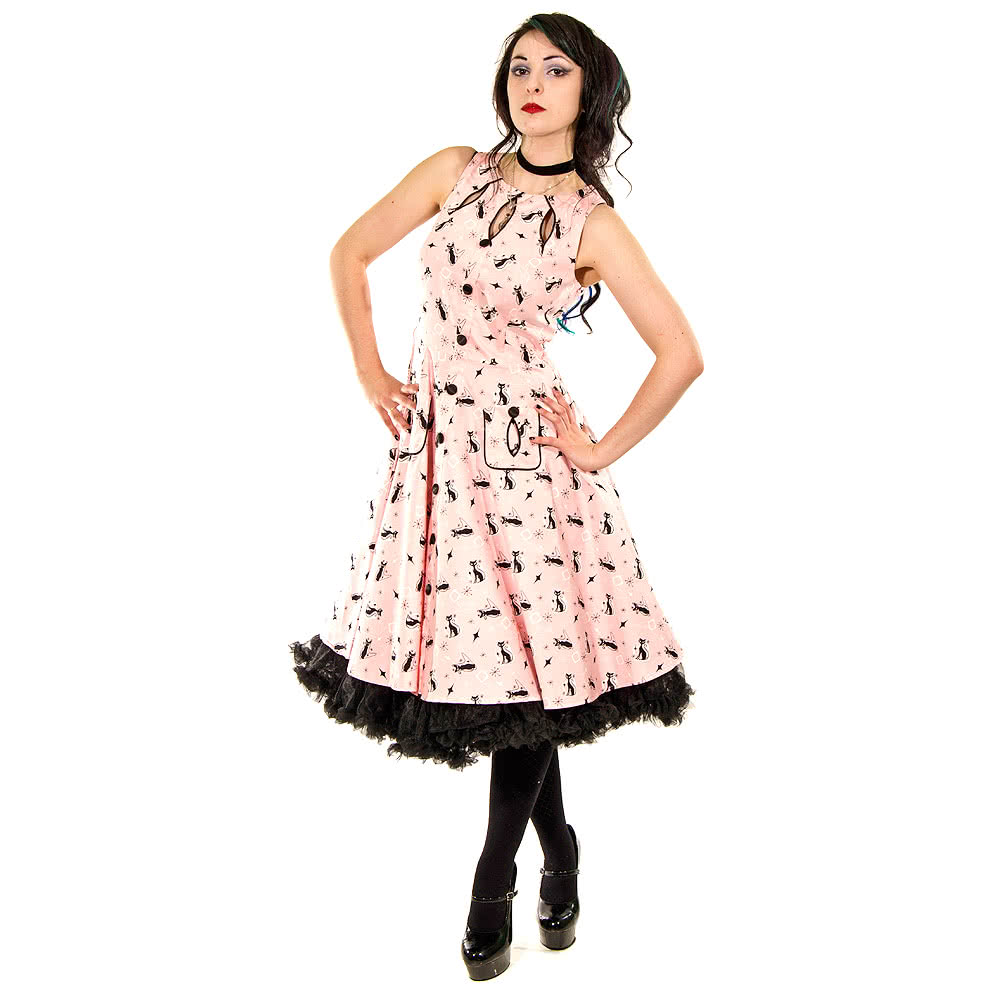Voodoo Vixen Kitty Dress (Pink)