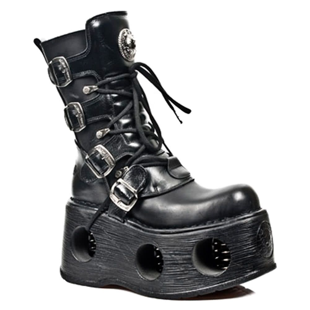 New Rock New Space Platform Boots M.373-S2 (Black)