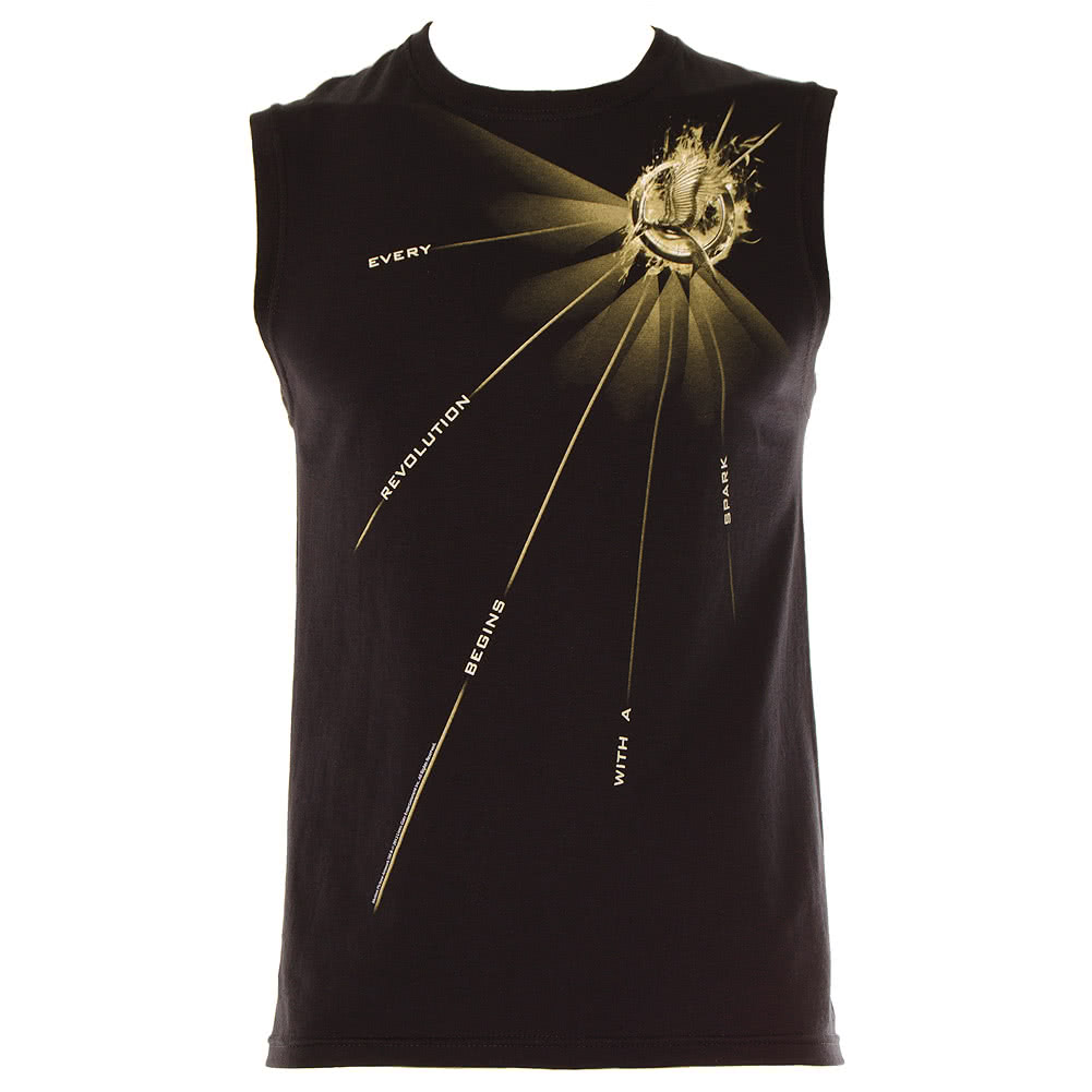 The Hunger Games Light Quote Tank Top (Black)