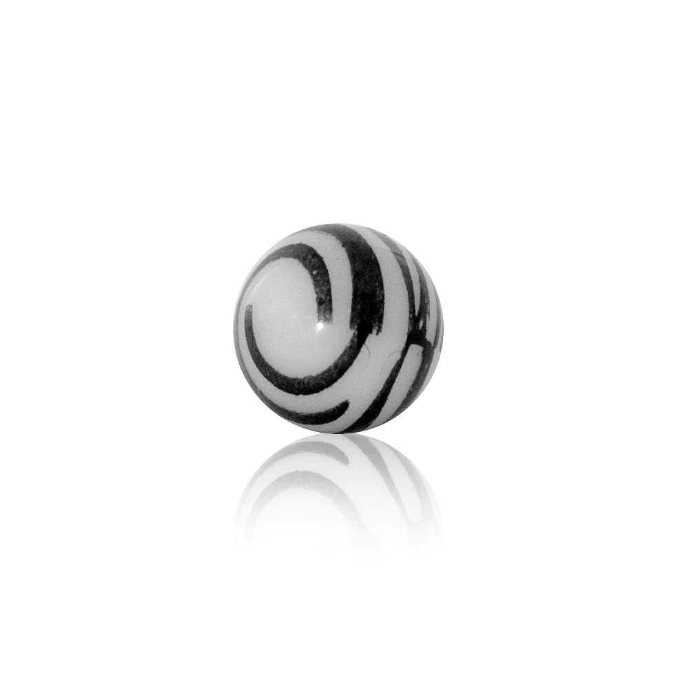 Blue Banana Zebra Screw Ball 5mm (Black/White)