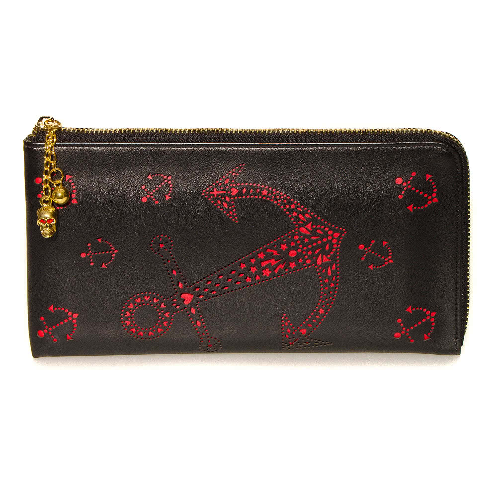 Banned Anchor Wallet (Red/Black)