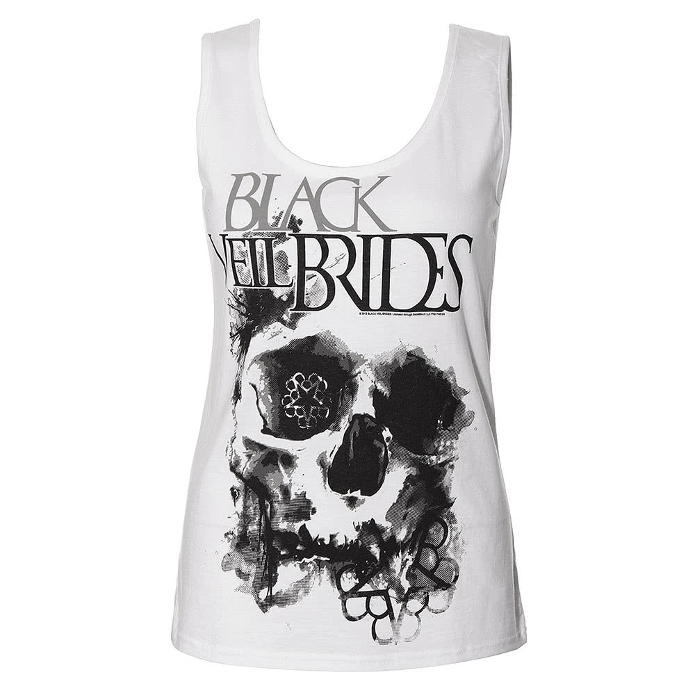 Black Veil Brides Skullogram Vest (White)