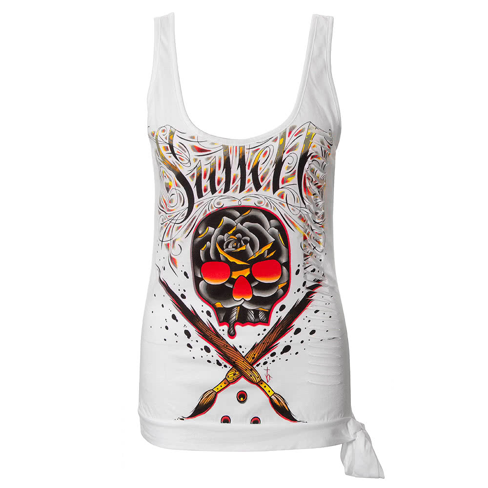 Sullen Angels Core Vest Top (White)