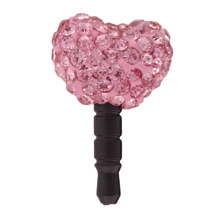 Blue Banana Heart Phone Charm (Pink)