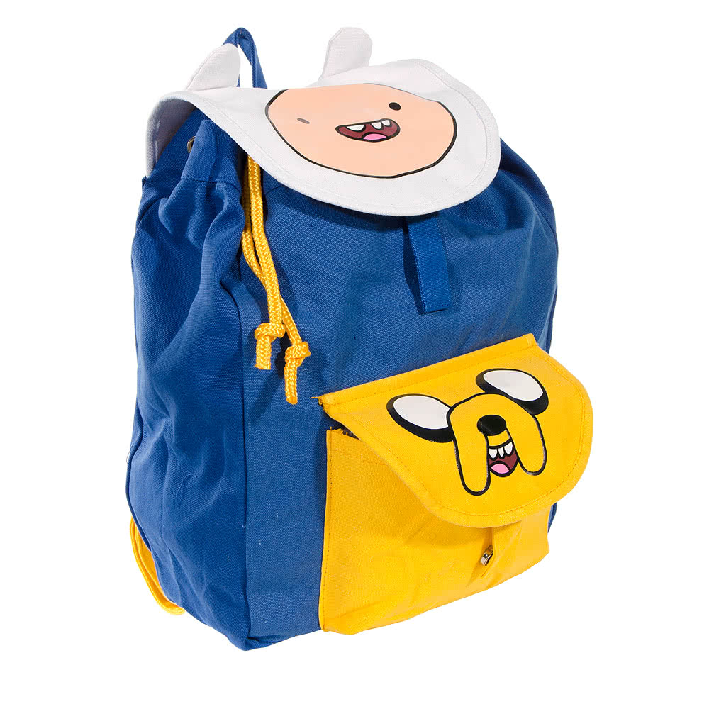 Adventure Time Jake & Finn Eyes Backpack (Blue)