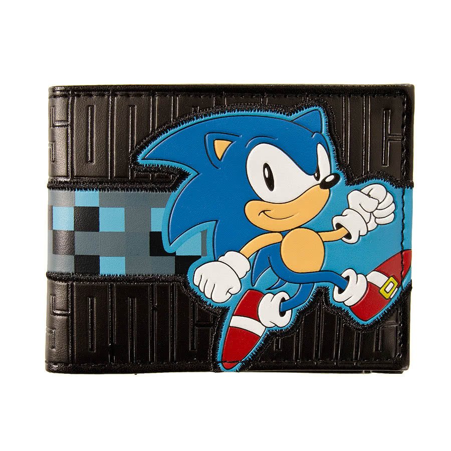 SEGA Sonic Running Wallet (Black/Blue)