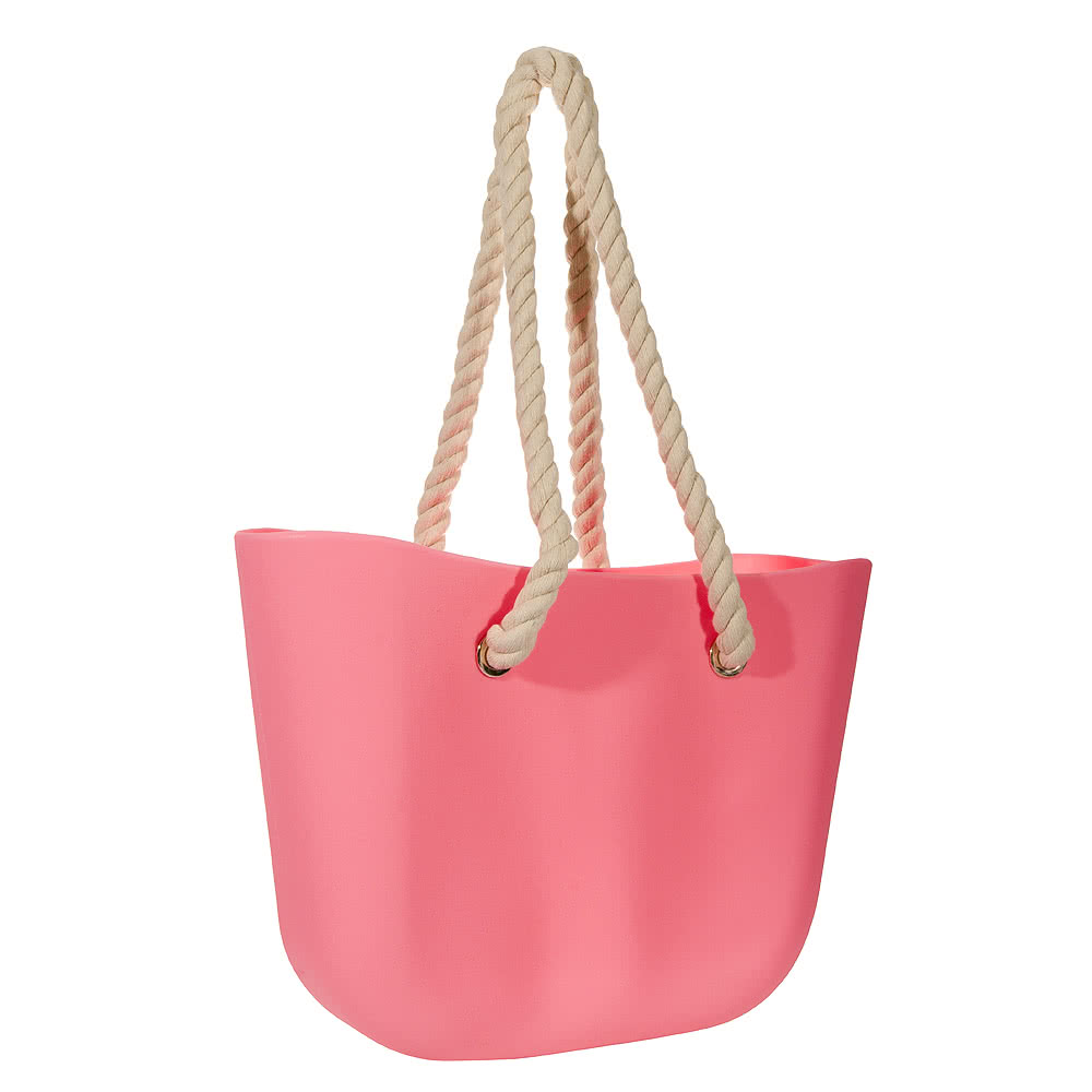 Blue Banana Jelly Beach Bag (Pastel Pink)