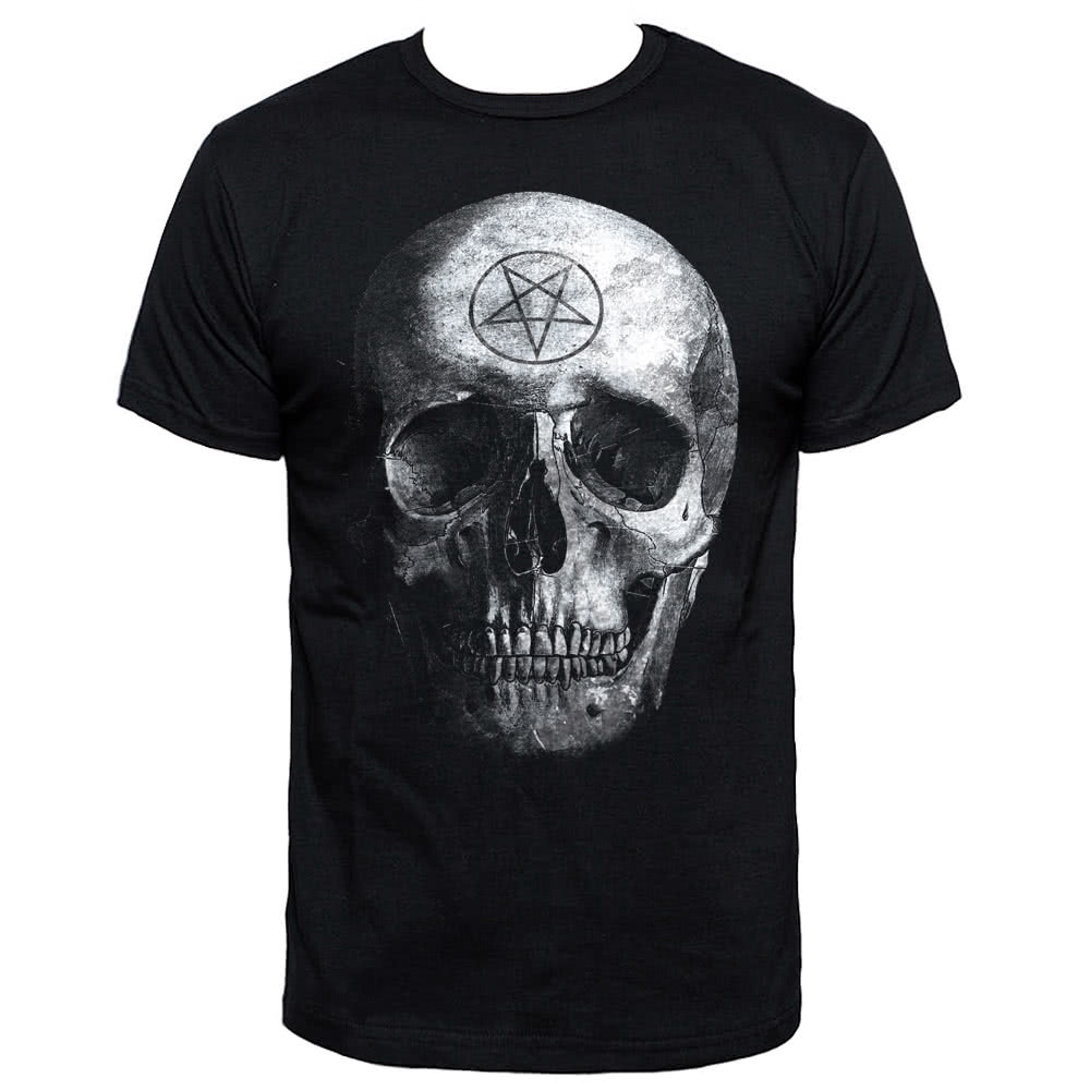 Blue Banana Occult Skull T Shirt (Black)