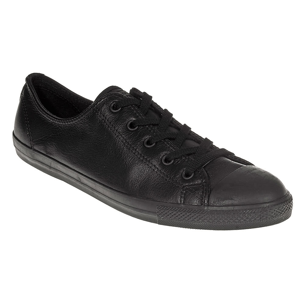 converse all dainty leather shoe black blue