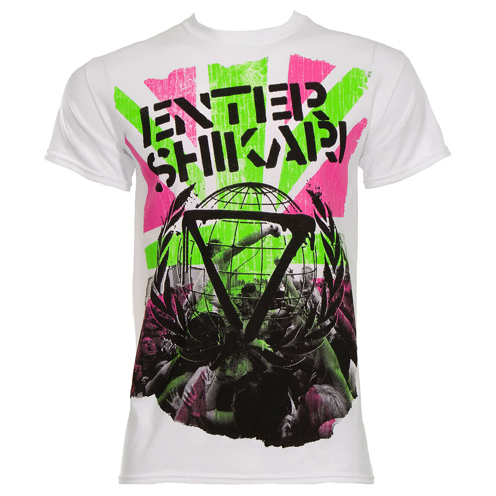 Enter Shikari Neon T Shirt (White)