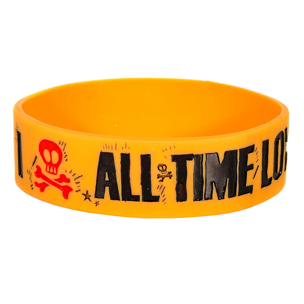 All Time Low Heart Bone Wristband (Yellow)