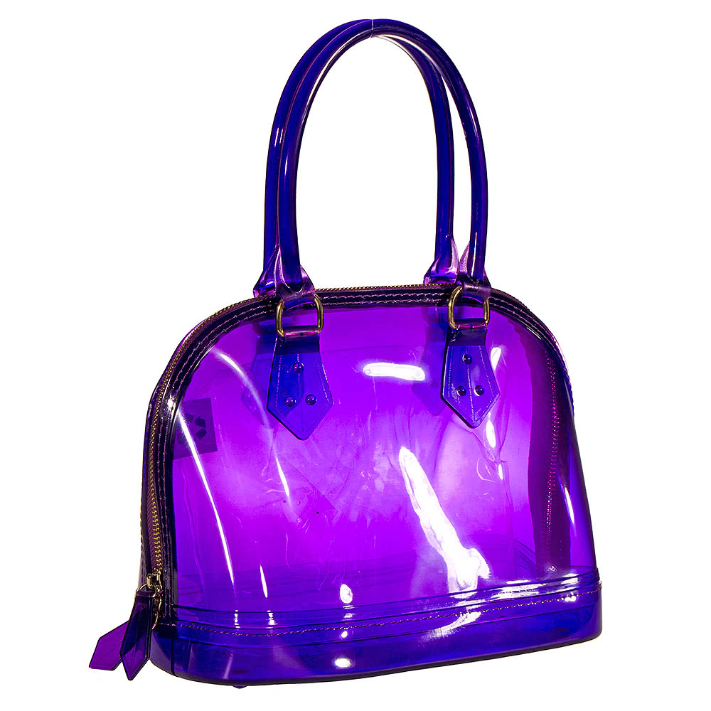Blue Banana Small Plastic Handbag (Purple)
