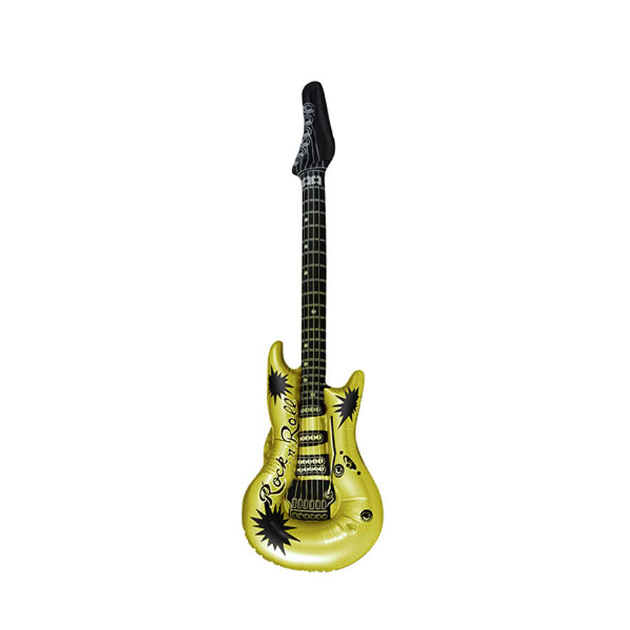 Blue Banana Inflatable Guitar (Gold)