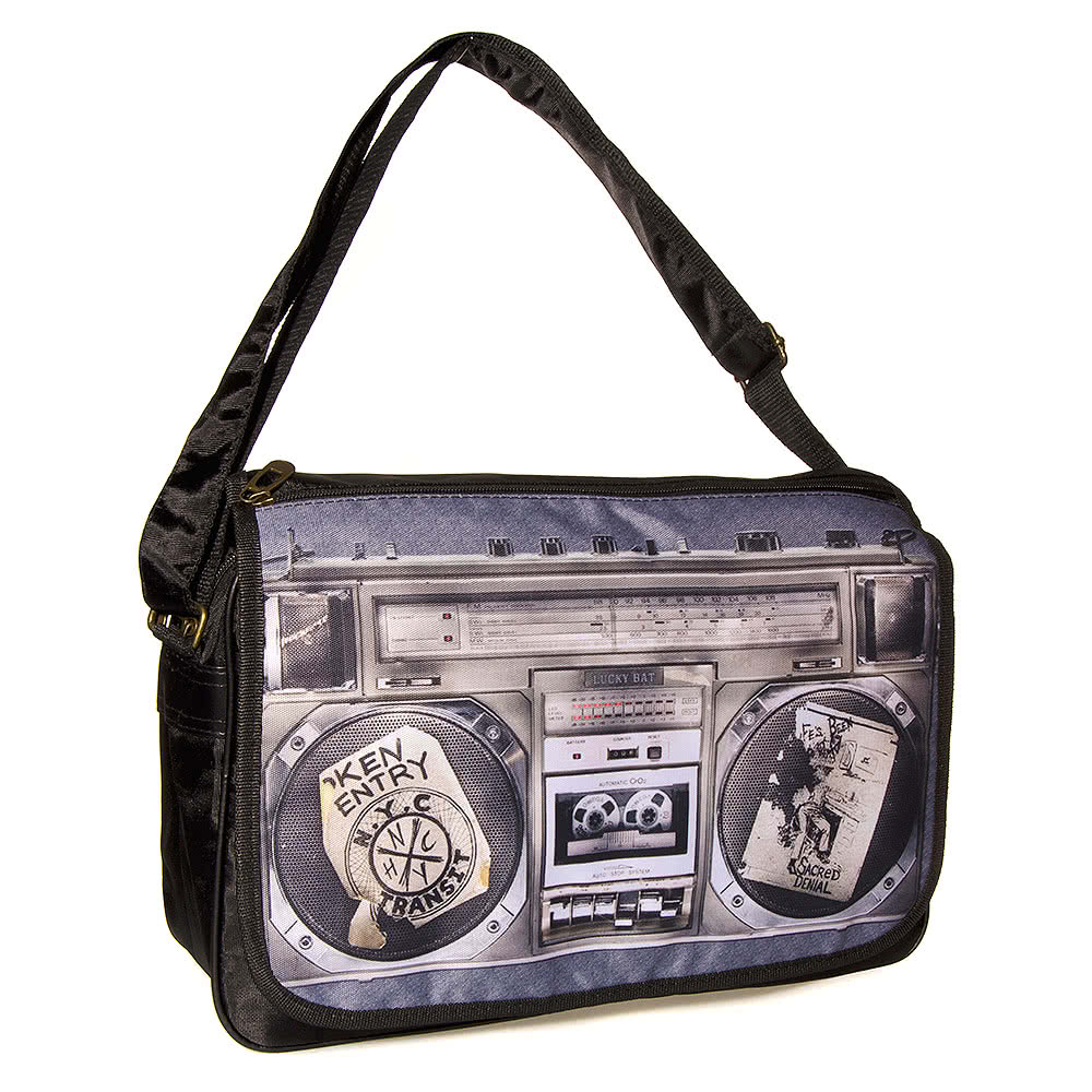 Blue Banana Boombox Messenger Bag