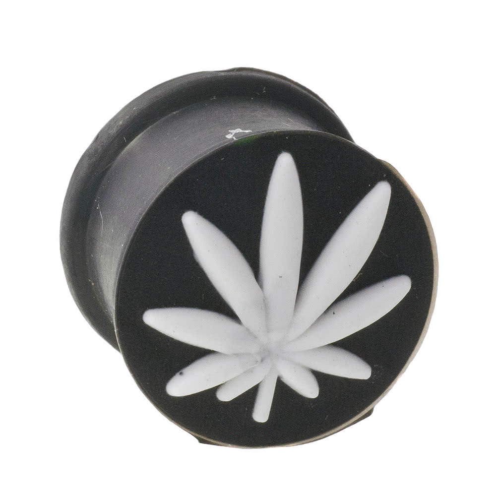 Blue Banana Silicon Leaf Plug (Black/White)