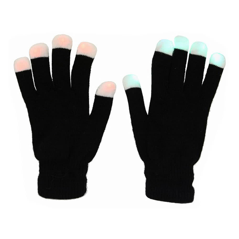 Blue Banana LED Light Up Gloves (Black)