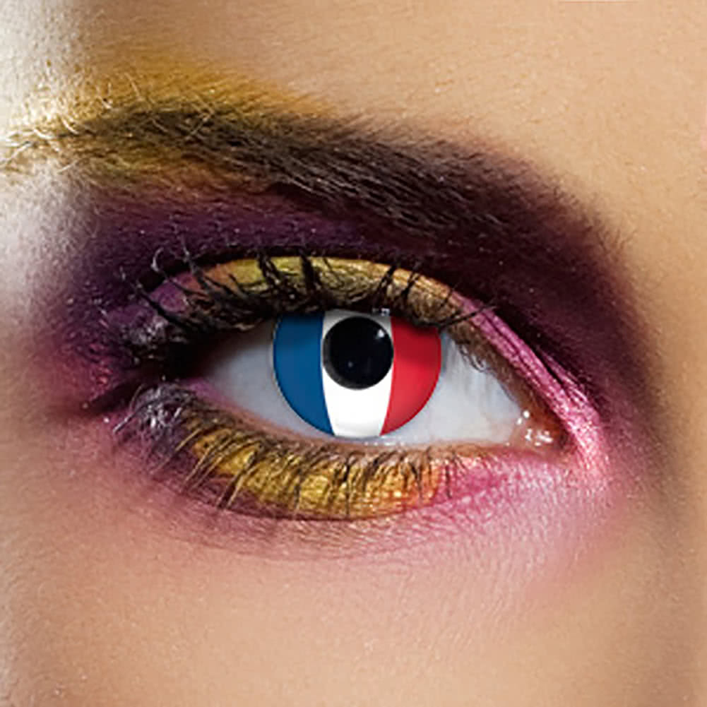 EDIT 90 Day France Flag Contact Lenses (Red/White/Blue)