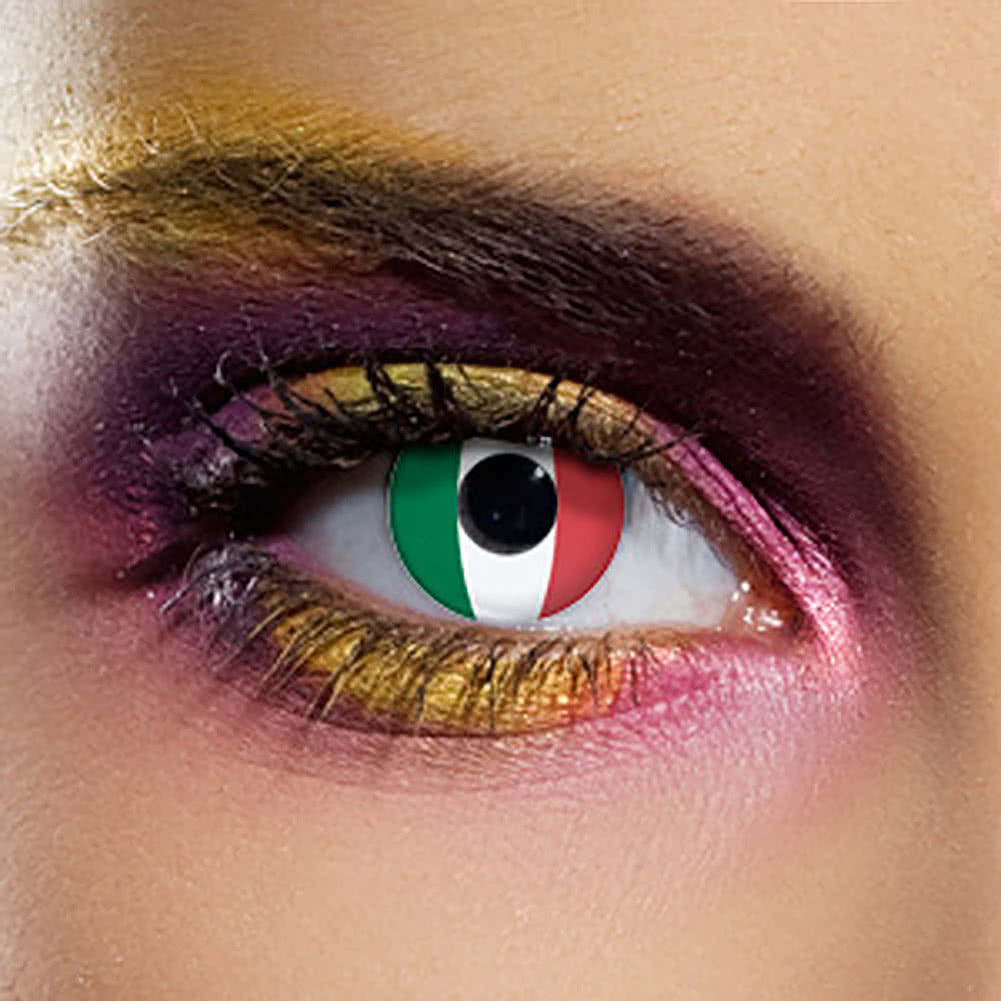 EDIT 90 Day Italy Flag Contact Lenses (Green/White/Red)