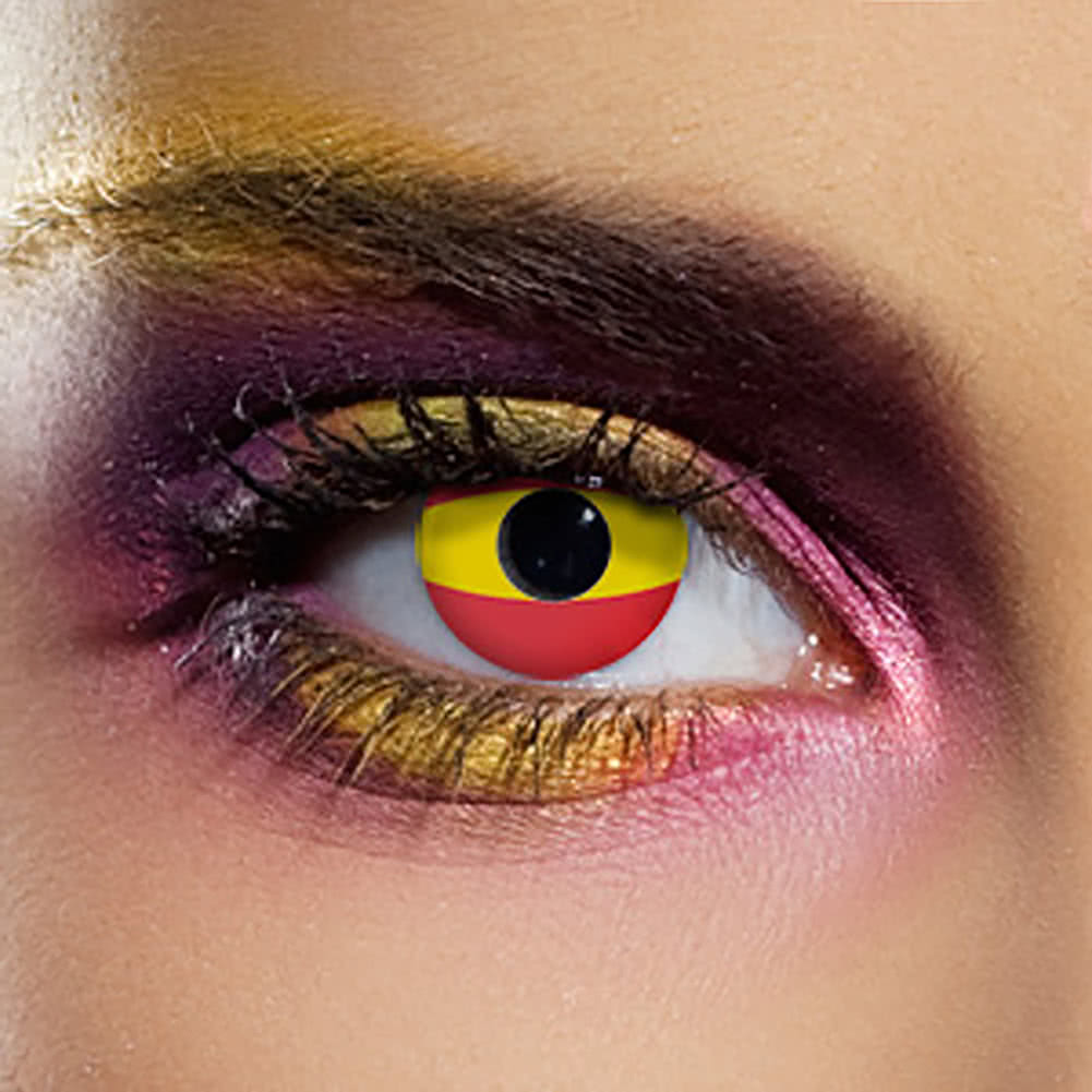 EDIT 90 Day Spain Flag Contact Lenses (Yellow/Red)