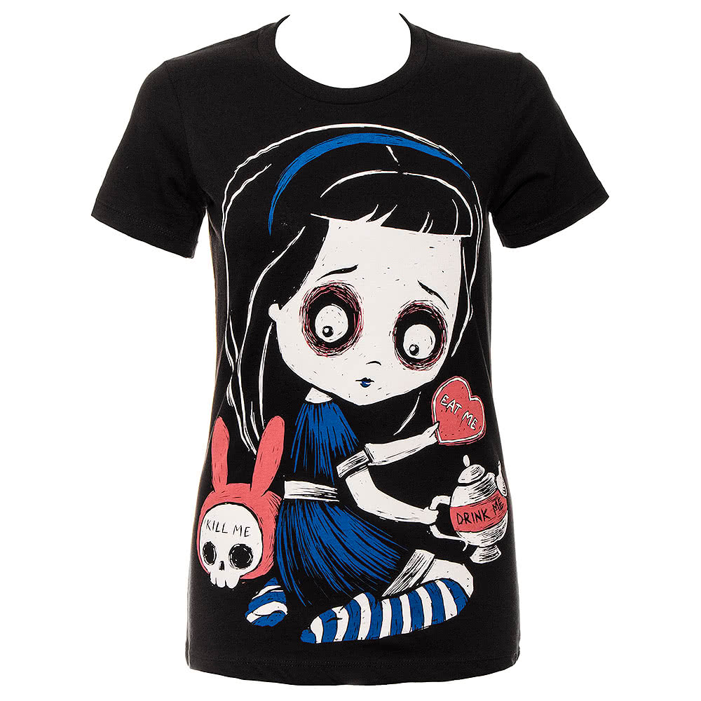 Akumu Temptation Of Alice Skinny T Shirt (Black)