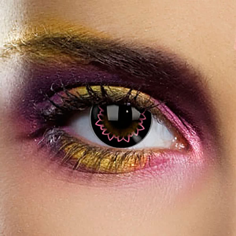 EDIT 1 Year Butterfly Coloured Contact Lenses (Pink)