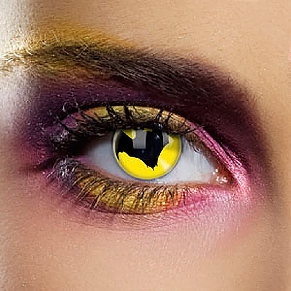 EDIT 1 Year Dracula The Bat Coloured Contact Lenses (Yellow)