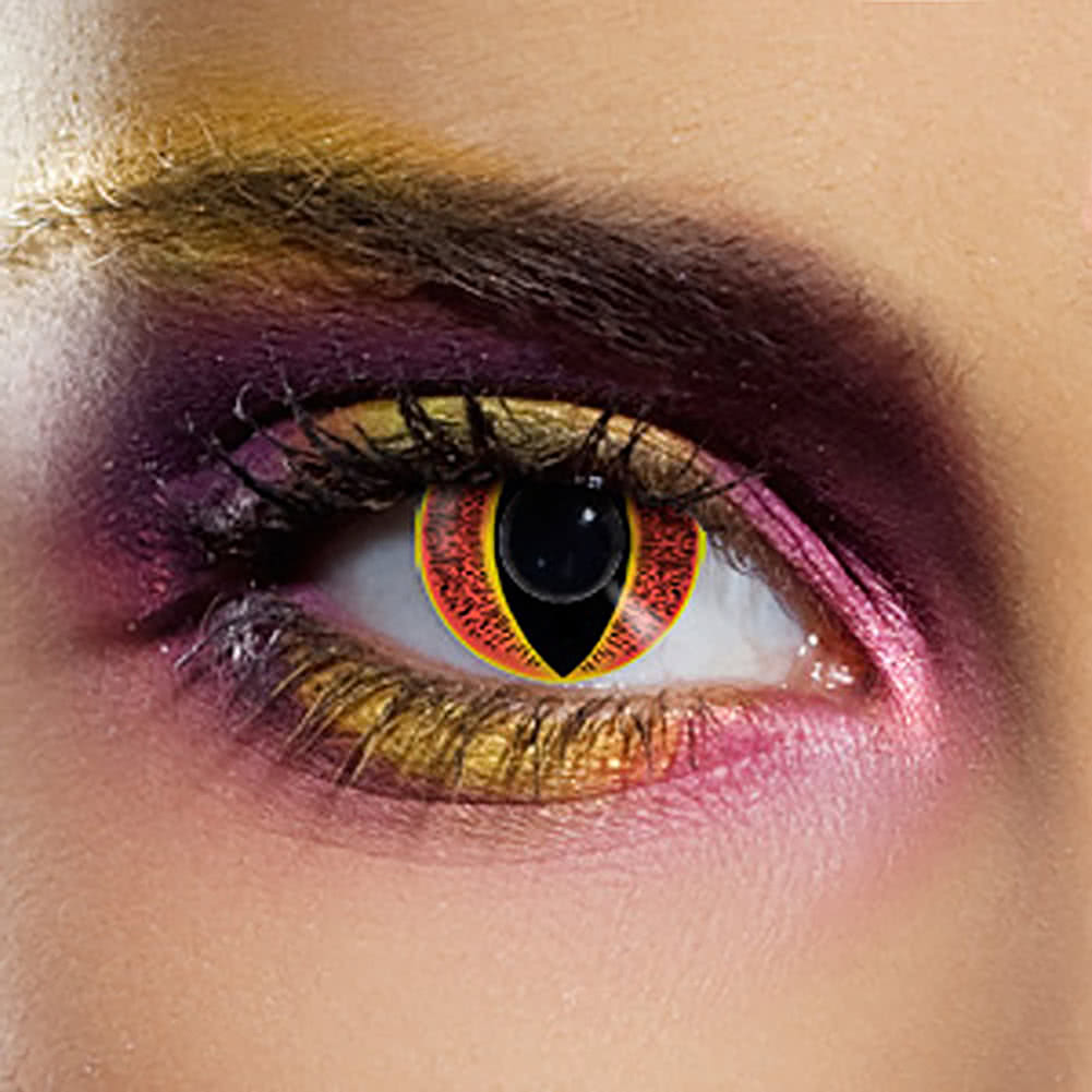 EDIT 90 Day Sauron Eye Coloured Contact Lenses (Black/Red/Yellow)