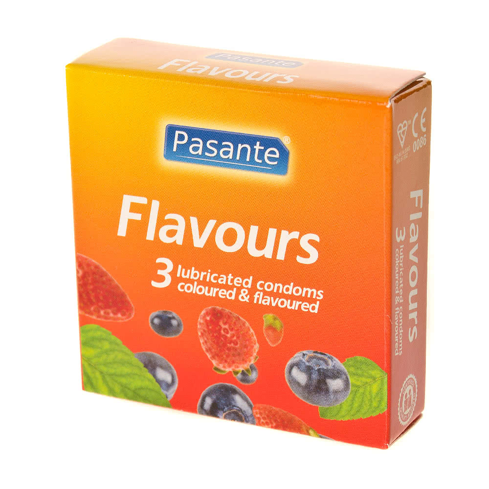 Pasante Flavoured Condoms (Pack Of 3)