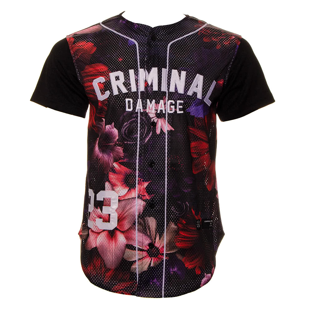 Criminal Damage Frisco Baseball Top (Black)