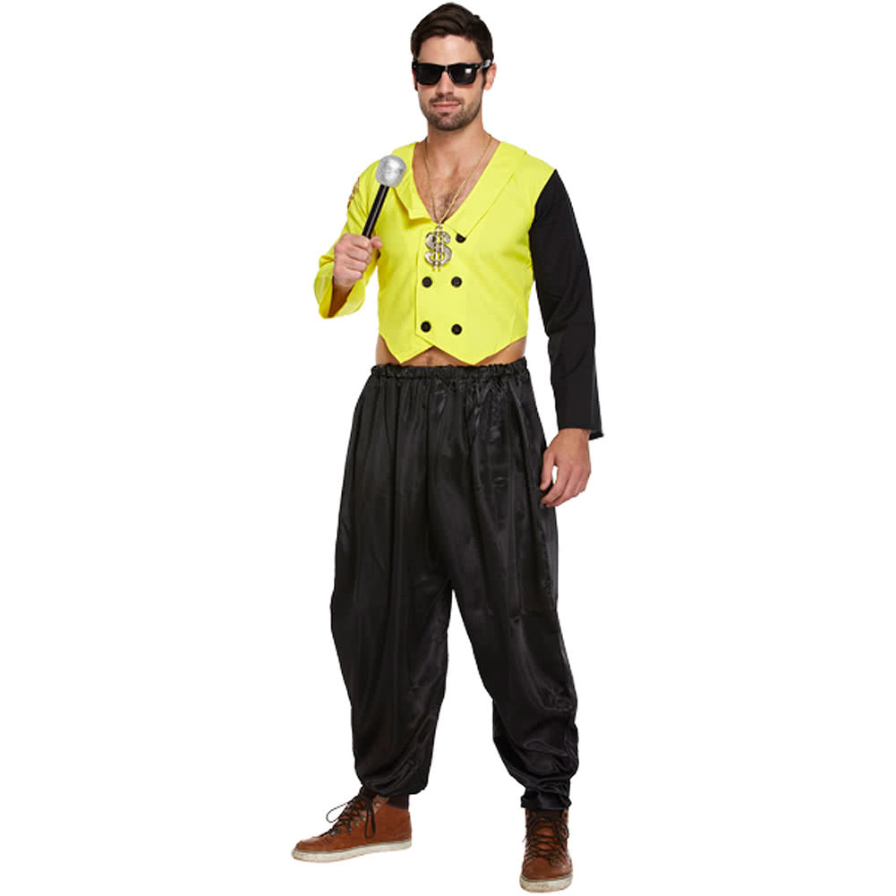 80's Rap King Adult Dressing Up Costume (Yellow)