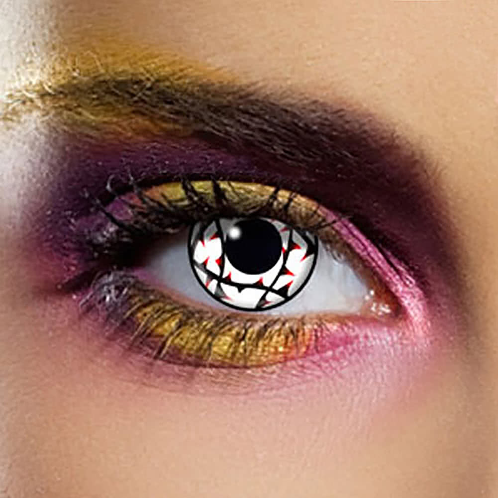 EDIT 90 Day Thorn Coloured Contact Lenses (White)