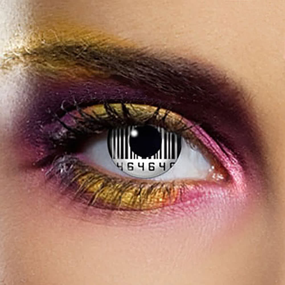 EDIT 90 Day Barcode Coloured Contact Lenses (Black/White)
