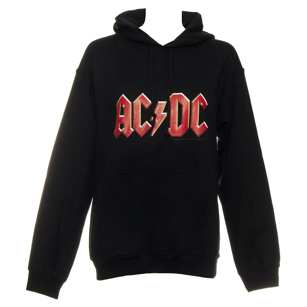 ac dc logo hoodie black. Black Bedroom Furniture Sets. Home Design Ideas