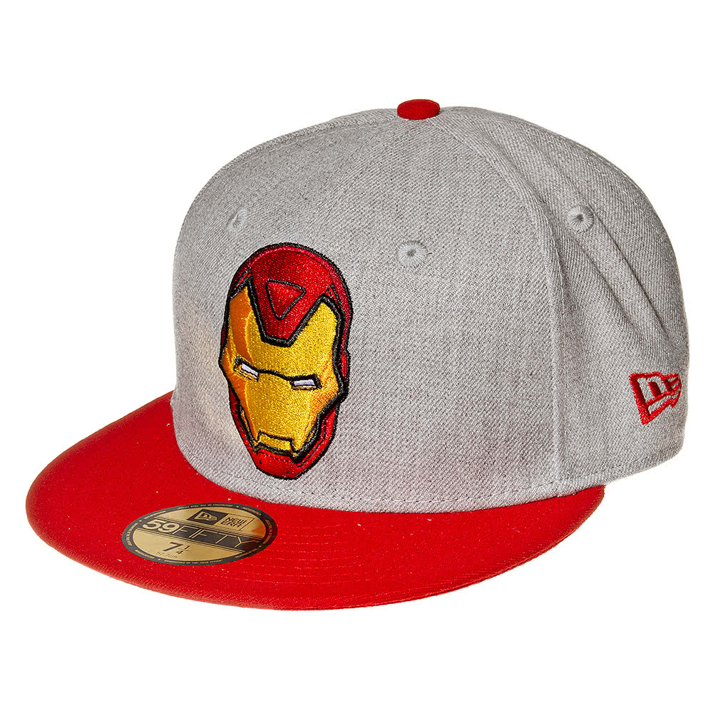 Marvel Comics Iron Man New Era Hero Baseball Hat (Grey)