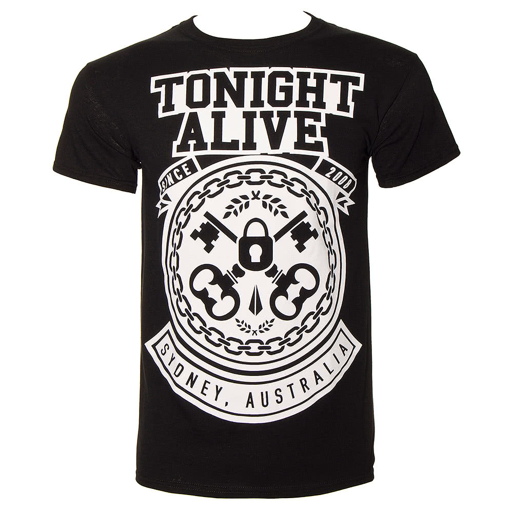 Tonight Alive Lock & Key T Shirt (Black)