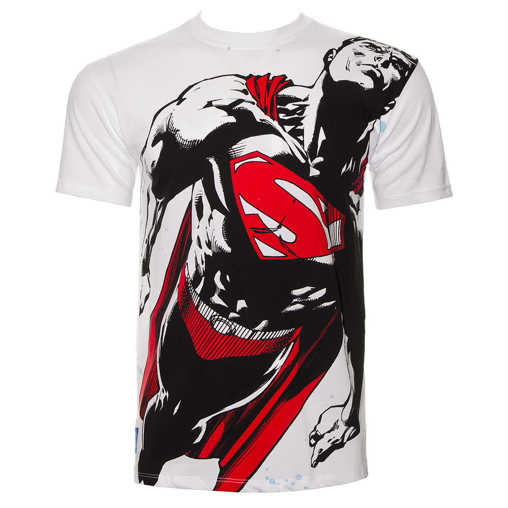 DC Comics Superman Flight Path T Shirt (White)