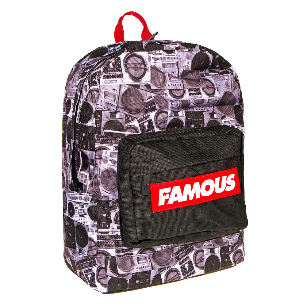 Famous Stars & Straps Boombones Backpack (BlackRed)