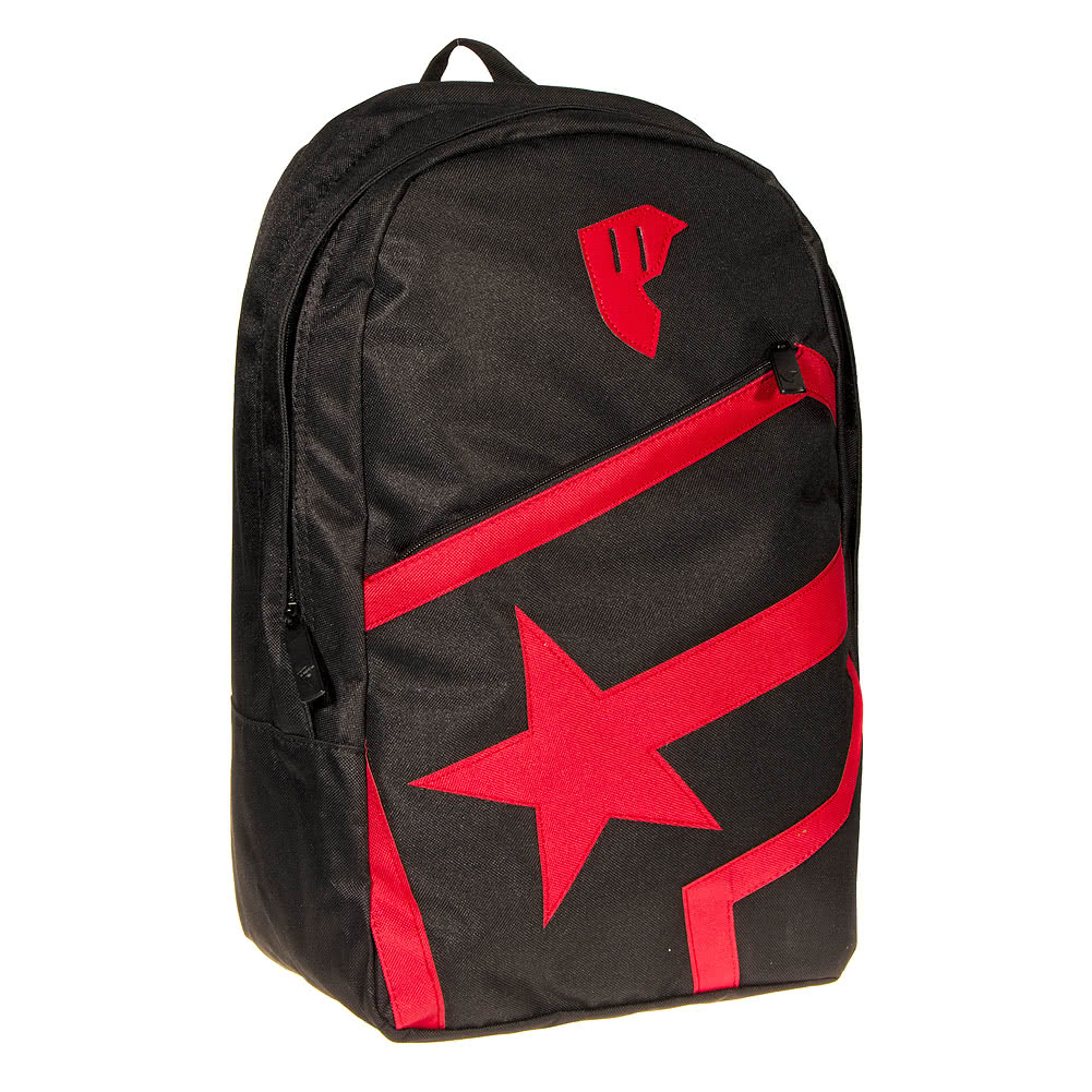 Famous Stars & Straps Badge Of Honor Zip Backpack (BlackRed)