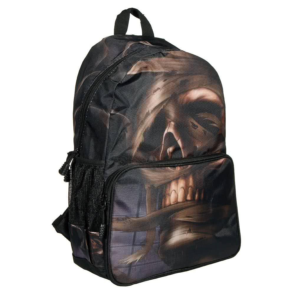 Banned Mummy Skull Backpack (Black)