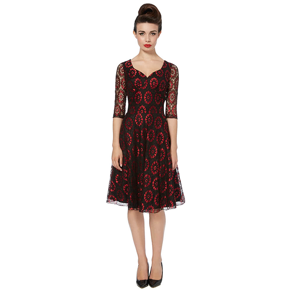 Voodoo Vixen Ava Dress (BlackRed)