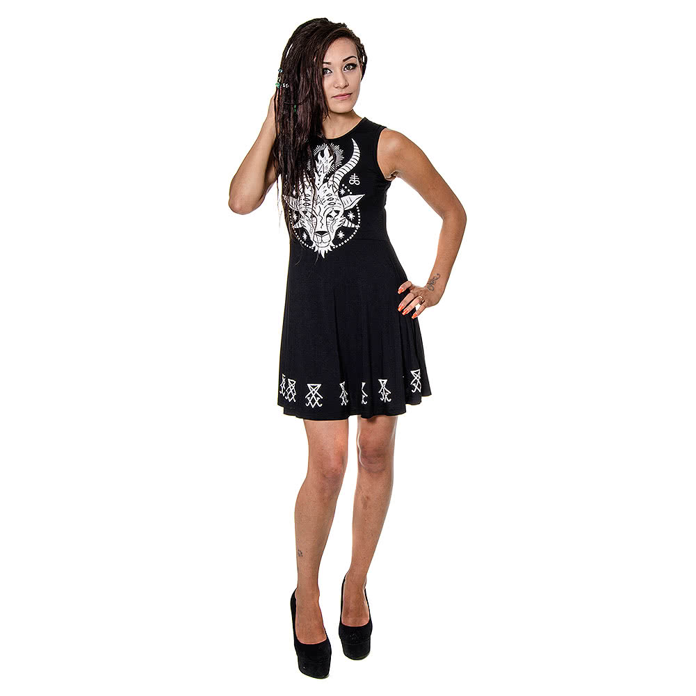 Killstar Horny Skater Dress (Black)